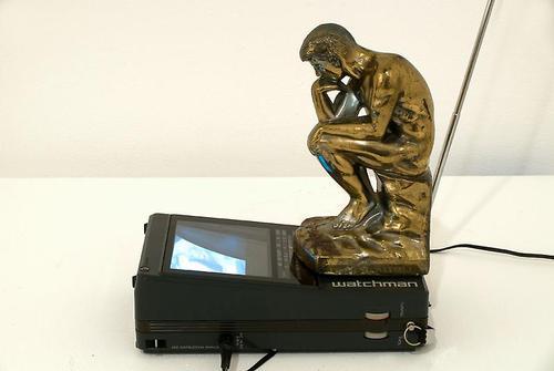 Paik, TV Rodin, 1982