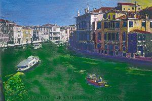 Hidrocromía Gran Canal Venecia. N G Uriburu 1970