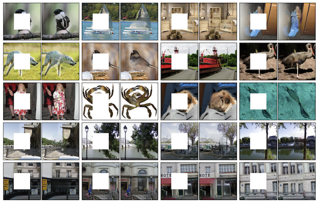 Example-of-GAN-Generated-Photograph-Inpainting-using-Context-Encoders