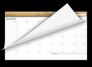 skeumorphism calendar